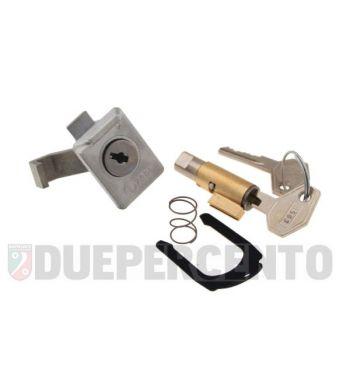 Kit serratura bloccasterzo 4mm, bauletto, ZADI per Vespa 50N/ L/ S / 50 Special/ R/ PV/ ET3/ 125GT/ Sprint/ Sprint Veloce/ TS/ GTR/ Rally