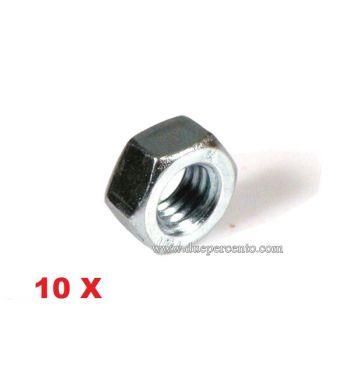 Dado M8 - zincato per cerchio ruota per Vespa 50/ ET3/ Primavera/ PX125-200/ GT/ GTR/ TS/ GL/ Sprint/ Rally - 10 pezzi