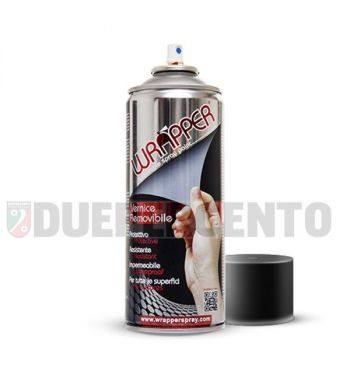 Bomboletta vernice rimovibile Wrapper Nero Opaco Metallizato ml 400