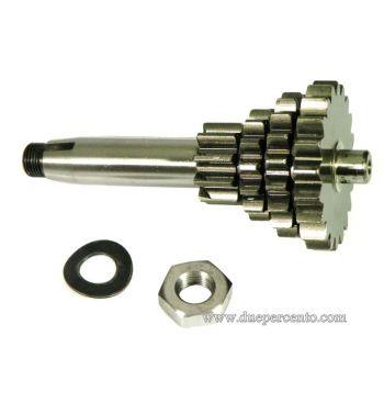 Ingranaggio multiplo DRT 10-14-18-20 denti QUARTA EXTRA CORTA - MAX 15 HP, per Vespa 50/ 50 Special/ ET3/ Primavera/ PK50-125