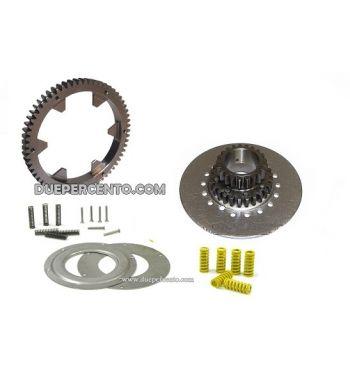 Rapporti secondari 23/62 denti dritti, DRT per frizione 7 molle per Vespa 125 GTR/ TS/Sprint V/ PX125-200/VNA/ VBA/ T5/ Rally