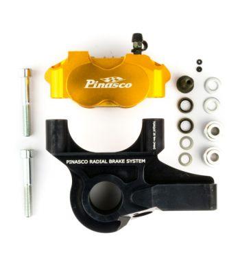 Impianto frenante PINASCO con pinza freno radiale per PX`98/MY/NT 20mm, alluminio, nero/oro