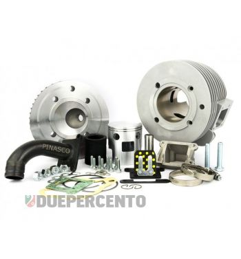 Cilindro da competizione PINASCO NORDKAPP lamellare, 160CC, Ø 60mm, corsa 57mm, alluminio, 5 travasi, completo di testa