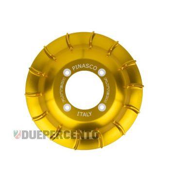 Ventola volano PINASCO in alluminio CNC oro per accensione PINASCO FLYTECH per Vespa 50/ 50 Special/ ET3/ Primavera/ PK50-125/ ETS