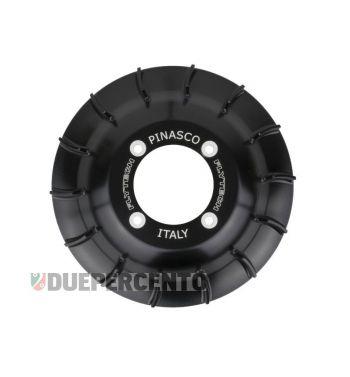 Ventola volano PINASCO in alluminio CNC nero lucido per accensione PINASCO FLYTECH per Vespa PX125-200 / P200E / 180-200 Rally/ Cosa/ Sprint /GT/ GTR/ T5