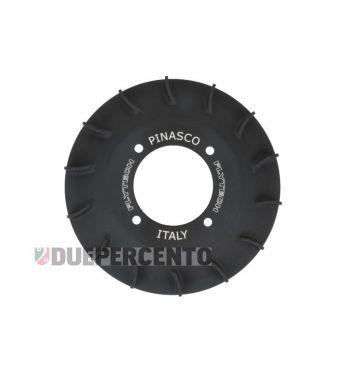 Ventola volano PINASCO in alluminio CNC nero opaco per accensione PINASCO FLYTECH per Vespa PX125-200 / P200E / 180-200 Rally/ Cosa/ Sprint /GT/ GTR/ T5