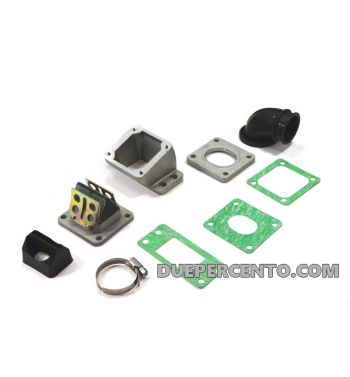 Collettore aspirazione lamellare PINASCO 30mm, per carter PINASCO - Vespa PX125-200/ P200E/ GT/ Sprint/ TS/ Rally180-200/ T5/ Cosa
