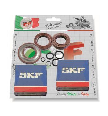 Kit 2 cuscinetti, 3 paraoli in Viton per revisione albero motore Vespa 50/ 50 Special/ ET3/ Primavera
