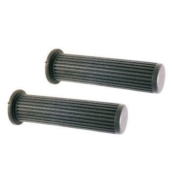 Coppia manopole nere, Ø 24 mm, l=130 mm per Vespa PX125-200/P200E/ Arcobaleno/ Lusso/ T5