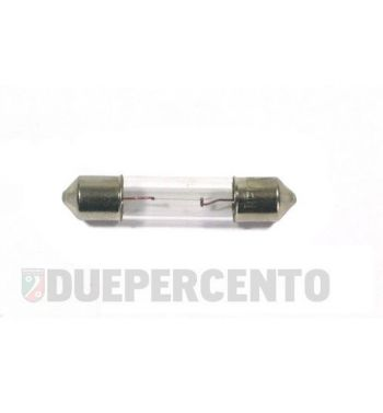 Lampadina siluro 6V 0,6W - 6x31 illuminazione contachilometri Vespa ET3/ Primavera/ Sprint/ GTR/ TS/ Rally