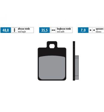 Pastiglie freno POLINI for race sinterizzate per pinza ZIP SP/ Vespa 50/ 125 LX/ Primavera - S14