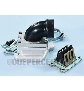 Collettore aspirazione lamellare POLINI per carter con attacco lungo per Vespa PX125-200 / P200E / 180-200 Rally/ Cosa/ Sprint/ GTR / T5