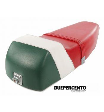 Sella Super Corsa tricolore per Vespa PX125-200/ P200E/ MY