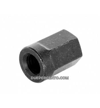 Dado M8x1,25 mm, esagonale, 10.9, acciaio, zincato, nero galvanizzato, chiave 12mm, per cerhio tubeless Vespa/ Lambretta