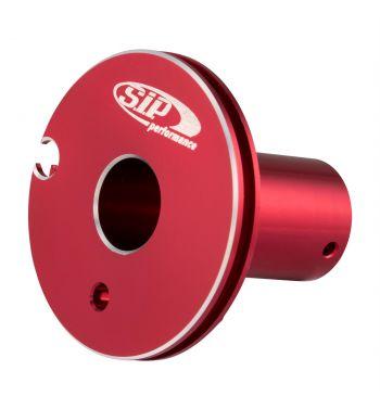 Puleggia corsa corta comando gas SIP ø47mm, rosso anodizzato, CNC, per Vespa 50 N/ L/ R 1°/ Primavera 1°/ GT/ GTR 1°/ Super/ TS 1°/ GL/ Sprint V. 1°/ Super 1°/ 180 Rally/ 180SS