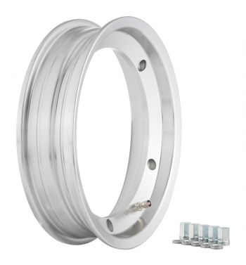 Cerchio in lega TUBELESS SIP PERFORMANCE 2.25-10 alluminio lucido per Vespa 160 GS / Vespa 180 SS