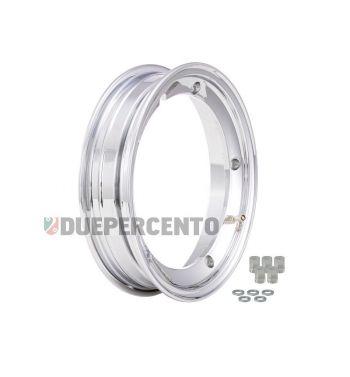 Cerchio in lega tubeless 2.0 SIP PERFORMANCE 2.10-10 alluminio cromato per Vespa 50/ 50 special/ ET3/ PX125-200/ P200E/ Rally 180-200/ T5/ GTR/ TS/ Sprint
