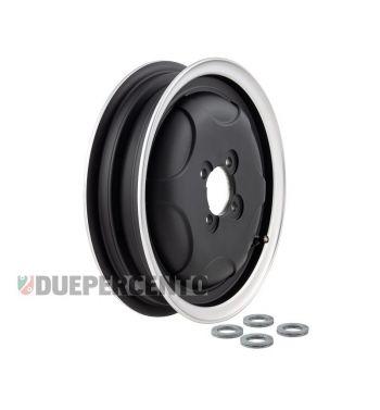 Cerchio chiuso in lega tubeless SIP PERFORMANCE nero opaco con bordo lucido 2.15-10 per Vespa 150 GS VS1-4