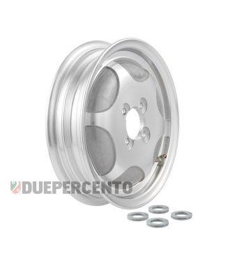 Cerchio chiuso in lega tubeless SIP PERFORMANCE grigio argento 2.15-10 per Vespa 150 GS VS1-4