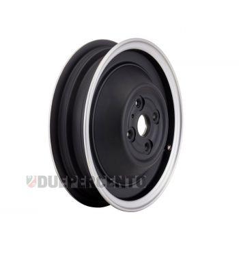 Cerchio chiuso in lega, tubeless SIP PERFORMANCE nero opaco con bordo lucido 2.15-10 per Vespa 50 N/ L/ R/ 90