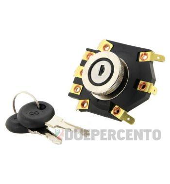Interruttore a chiave per Vespa P125-150X/ P200E/ PX125-200E con batteria