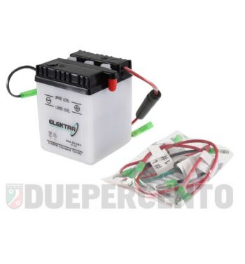 Batteria 6V 6N4-2A UNIVERSALE 69x69x90 con acido