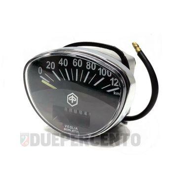 Contachilometri PIAGGIO fondo nero per Vespa SS50/ SS90/ Primavera/ ET3/ Super/ SprintV/ GTR/ TS/ Rally