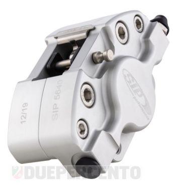 Pinza freno SIP 2 pistoncini Ø 31,5 mm, argento opaco anodizzato, per Vespa PX '98/ MY/ '11 kit GRIMECA
