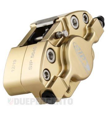 Pinza freno SIP 2 pistoncini Ø 31,5 mm, oro satinato anodizzato, per Vespa PX '98/ MY/ '11 kit GRIMECA