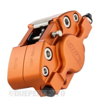 Pinza freno SIP 2 pistoncini Ø 31,5 mm, arancione opaco anodizzato, per Vespa PX '98/ MY/ '11 kit GRIMECA