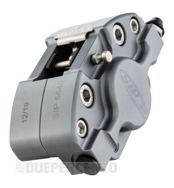 Pinza freno SIP 2 pistoncini Ø 31,5 mm, grigio opaco anodizzato, per Vespa PX '98/ MY/ '11 kit GRIMECA