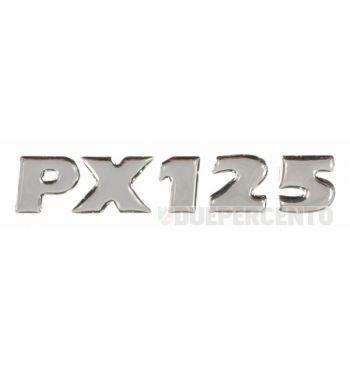 """Targhetta """"PX 125"""", adesiva, per cofano Vespa PX150 E '98/ Millenium"""