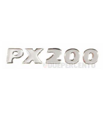 """Targhetta """"PX 200"""" PIAGGIO, adesiva, per cofano Vespa PX150 E '98/ Millenium"""
