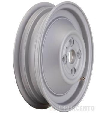 Cerchio chiuso in lega, tubeless SIP PERFORMANCE argento 4 fori 2.15-10 per Vespa 50 N/ L/ R/ 90