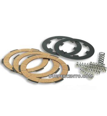Dischi frizione MALOSSI per frizione 6 molle, 3 dischi sughero, 2 infradischi, 6 molle rinforzate per Vespa PK50/ S/ SS/ XL/ XL2/ FL/ HP/ N/ Rush/Ape