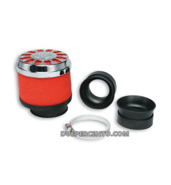 Filtro aria RED FILTER MALOSSI E13 Ø 32/38 dritto per carburatori PHVA/B - PHBN - PHBG - PHBL