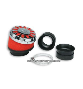 Filtro aria RED FILTER MALOSSI E13 Ø 32/38 inclinato 25°per carburatori PHVA/B - PHBN - PHBG - PHBL