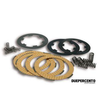 Dischi frizione MALOSSI MHR per frizione 6 molle, 4 dischi ssinterizzati, 3 infradischi, 12 molle per Vespa PK50/ S/ SS/ XL/ XL2/ FL/ HP/ N/ Rush/Ape