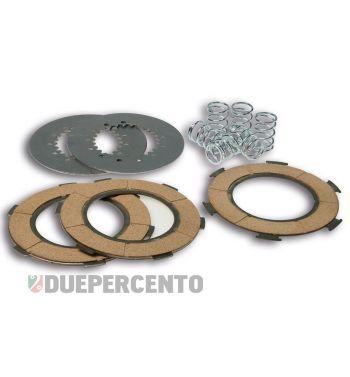 Dischi frizione MALOSSI Sport per frizione 6 molle, 3 dischi sughero, 2 infradischi, 6 molle rinforzate per Vespa PX125-150/ GTR/ TS/ Sprint/ GL/ VNB/ VBA/ LML125-150