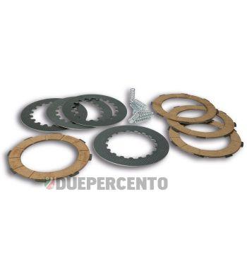 Dischi frizione MALOSSI MHR per frizioni 8 molle, 4 dischi sughero, 3 infradischi, per Vespa PX125-200/ GTR/ TS/ P200E/ Cosa200/ Rally180-200/ T5