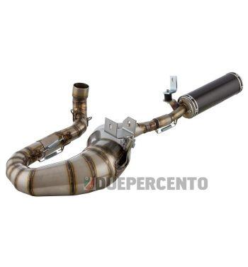 Marmitta in acciaio inossidabile Racing SIP PERFORMANCE 2.0 silenziatore in fibra di carbonio,lato destro per Vespa PX200/RALLY200/PE200