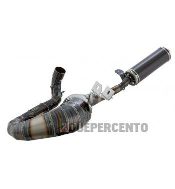 Marmitta in acciaio racing SIP PERFORMANCE 2.0 silenziatore in fibra di carbonio, lato destro per Vespa PX200/RALLY200/PE200