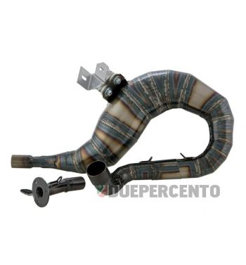 Marmitta in acciaio SENZA SILENZIATORE racing SIP PERFORMANCE 2.0 lato destro per Vespa PX200/RALLY200/PE200