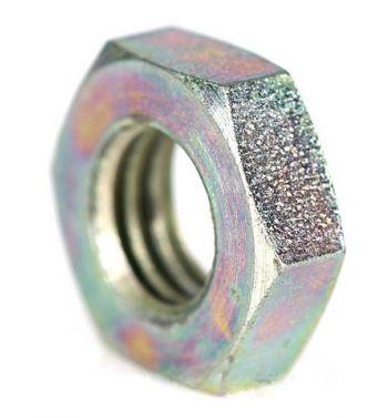 Dado PIAGGIO M10x1,25 mm, 04.04, acciaio, zincato, chiave 17mm, a=6,0mm, ammortizzatore, anteriore sopra, per Vespa PK 50-125/ S/ XL/ XL2/ FL/  PX125-200/ P200E / Arcobaleno/ `98/ MY/ `11/ T5/ Cosa