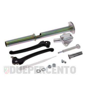 Kit pompa freno interno manubrio MOTORINO DIAVOLO, leve nere per Vespa PX120-200/ PE/ Lusso/ T5 Classic