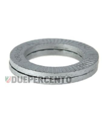 Rondella piatta NORD-LOCK M8 mm, per cerchio tubless per Vespa 50/ 50 special/ ET3/ PX125-200/ P200E/ Rally 180-200/ T5/ GTR/ TS/ Sprint