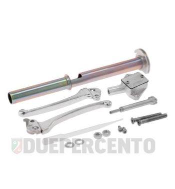 Kit pompa freno interno manubrio MOTORINO DIAVOLO, leve cromate per Vespa PX120-200/ PE/ Lusso/ T5 Classic