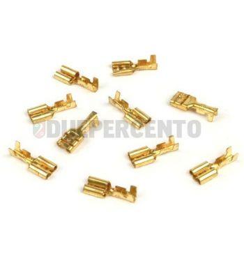 Capocorda faston BGM innesto lamellare femmina 6.3mm Ø=1.0-1.5mm² DIN 46340 - 10 pz