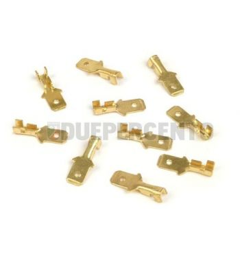 Capocorda faston BGM innesto lamellare maschio 6.3mm Ø=1.0-1.5mm² DIN 46248 - 10 pz