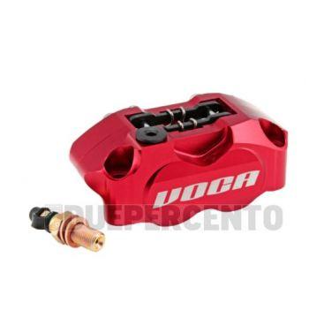 Pinza freno radiale VOCA RACING, 4 pistoncini, rossa, interasse fori 82mm